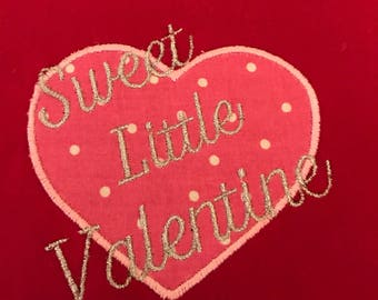 Sweet Little Valentine Embroidered Shirt