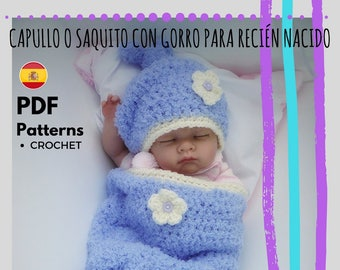 Capullo con gorro a ganchillo para recién nacido PDF
