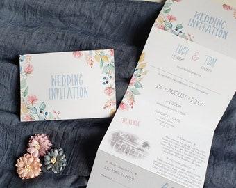 Folded Invitations Etsy