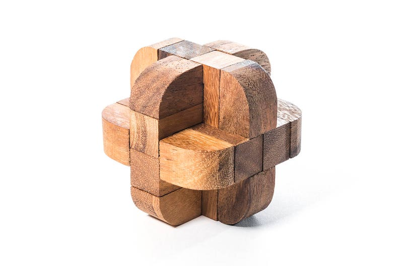 Diamond Cube 3 - Burr puzzle, mechanical puzzle, 3D wooden puzzle,  interlocking puzzle, handmade brainteaser, puzzle, gift for engineers