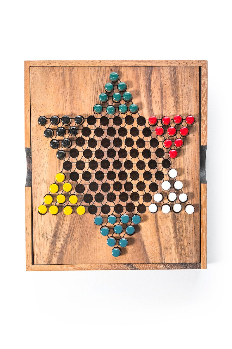 wood game table game game wood board game game for kids wooden board game game for adults strategy game Chinese Checkers