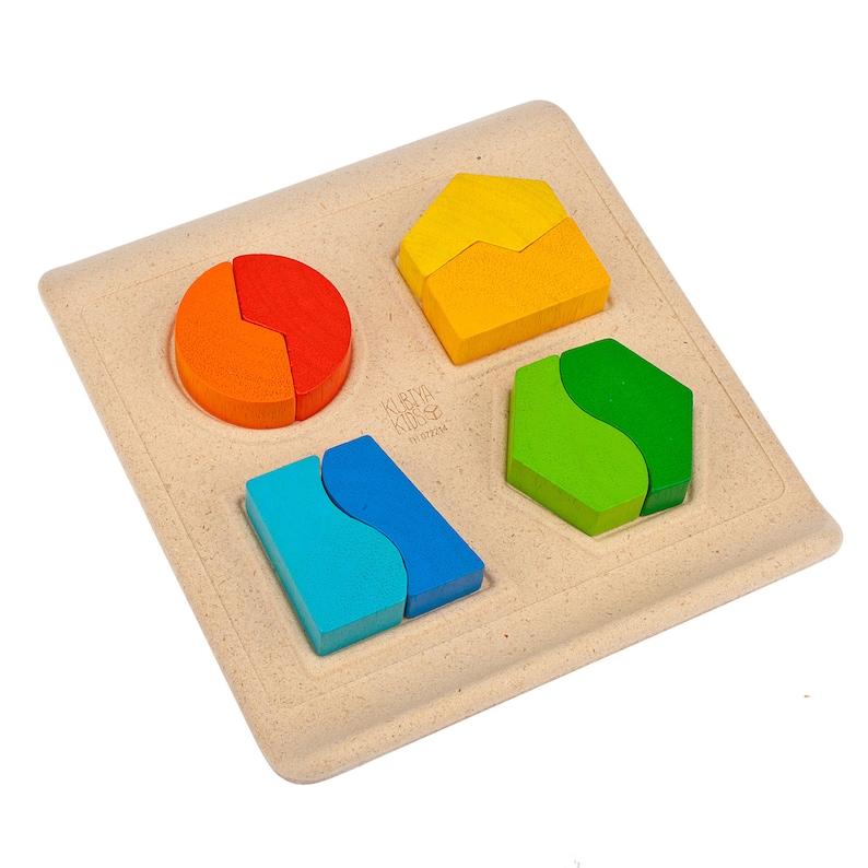EducativosMaderaMadera Adaptación Para Forma De La Pequeños MontessoriJuguetes Juguete Niños kn0OwP