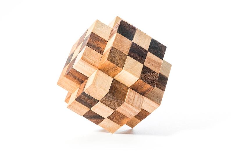 The Great Diamond - Burr puzzle, mechanical puzzle, 3D wooden puzzle,  interlocking puzzle, brain teaser puzzle,