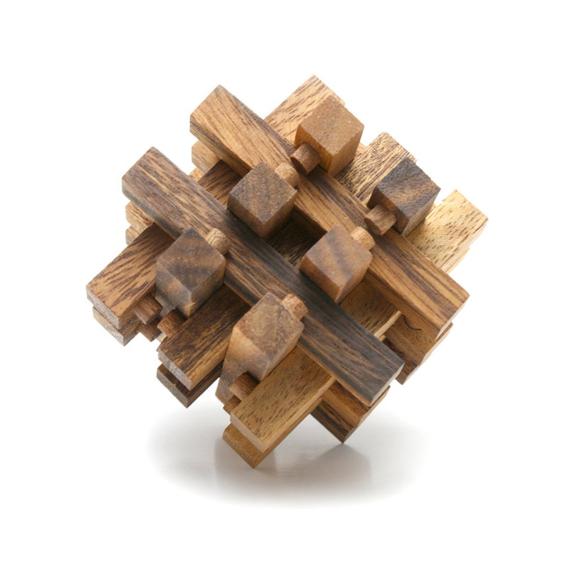 Lock Puzzle - 3D wooden interlocking brain teaser puzzle