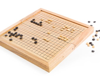 Go - Wooden board game, wood board game