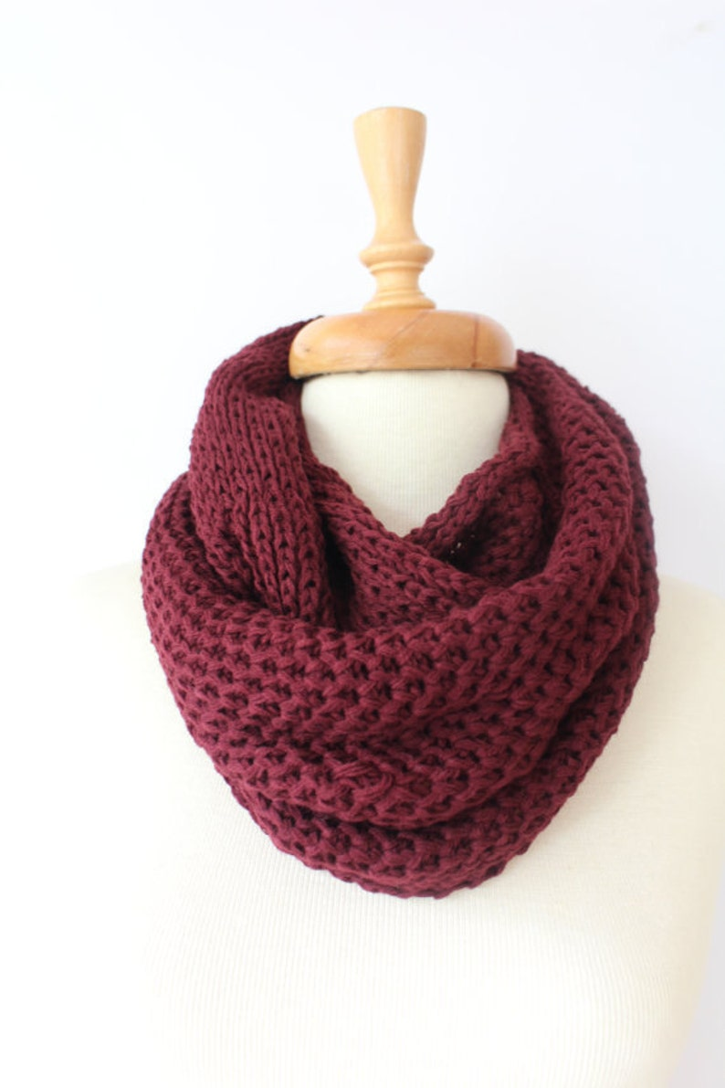 knit Scarf unique gifts infinity Scarf Chunky Scarf image 0