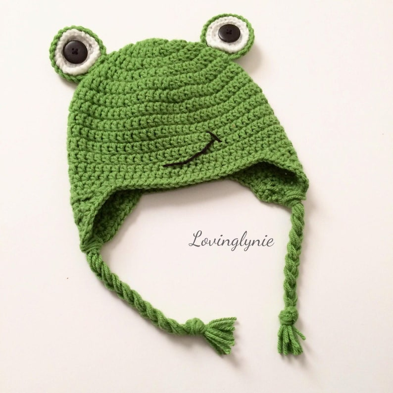 ccd915222f6 Crochet frog beanie   frog hat   frog   baby photo prop