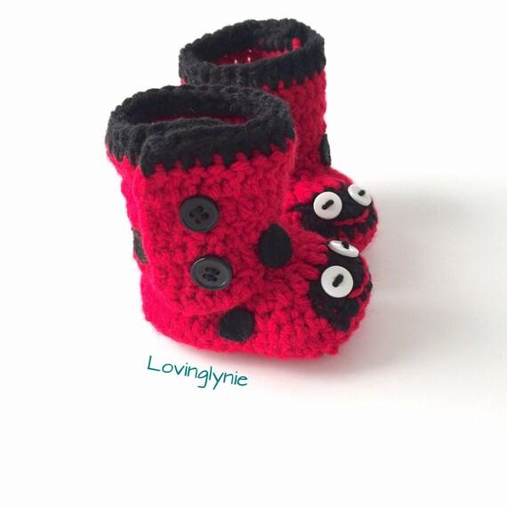 076d8855d4d Handmade ladybird beanie and shoes set ladybug beanie baby
