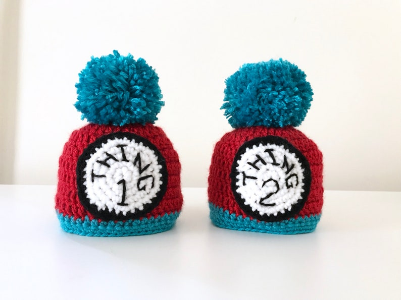 07df65d47ca Thing 1 and thing 2 beanies twins beanie baby gift thing
