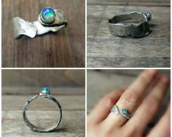 Silver ring Opal ring Handmade ring One of a kind Unique