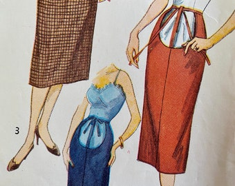 """Vintage, Straight, Maternity Skirt, Midi or Maxi, Sewing Pattern; Simplicity 4004, Waist 26"""""""