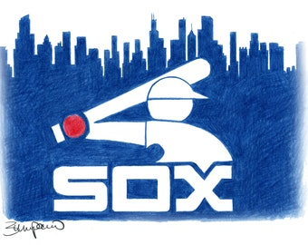 "Chicago White Sox baseball logo - 11x14"""