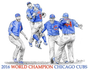 """2016 Chicago Cubs World Series Champions- 11x14"""""""