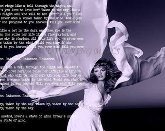 Stevie Nicks 'Rhiannon' lyric art