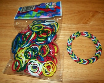Rainbow Loom Authentic Rubber Bands Sweets Cotton Candy Etsy