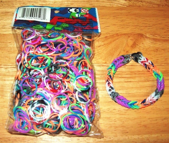 Rainbow Loom Authentic Rubber Bands Specialty Tie Dye Etsy