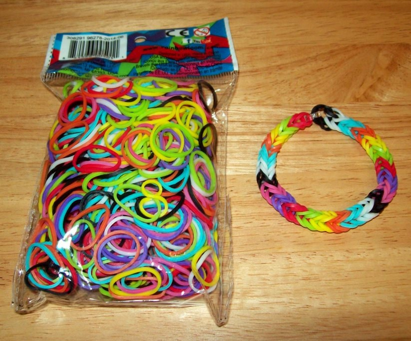 Rainbow Loom Authentic Rubber Bands Mixed Solid Colors Etsy