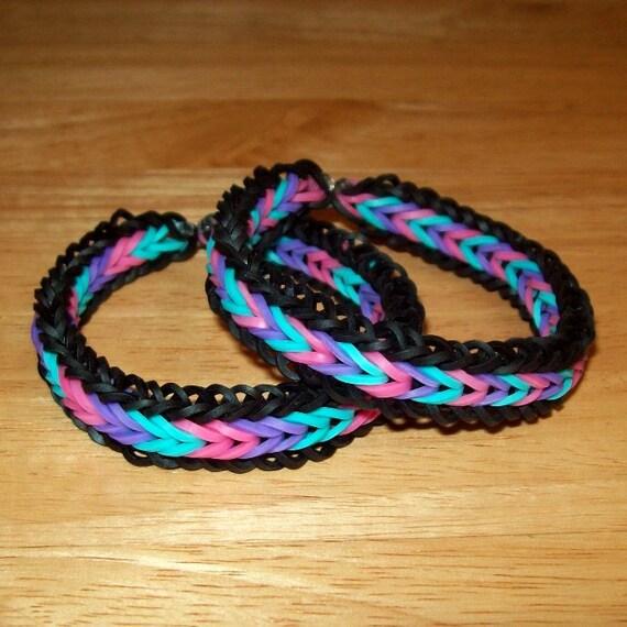 Rainbow Loom Rubber Band Bracelets Fishtail With Border Etsy