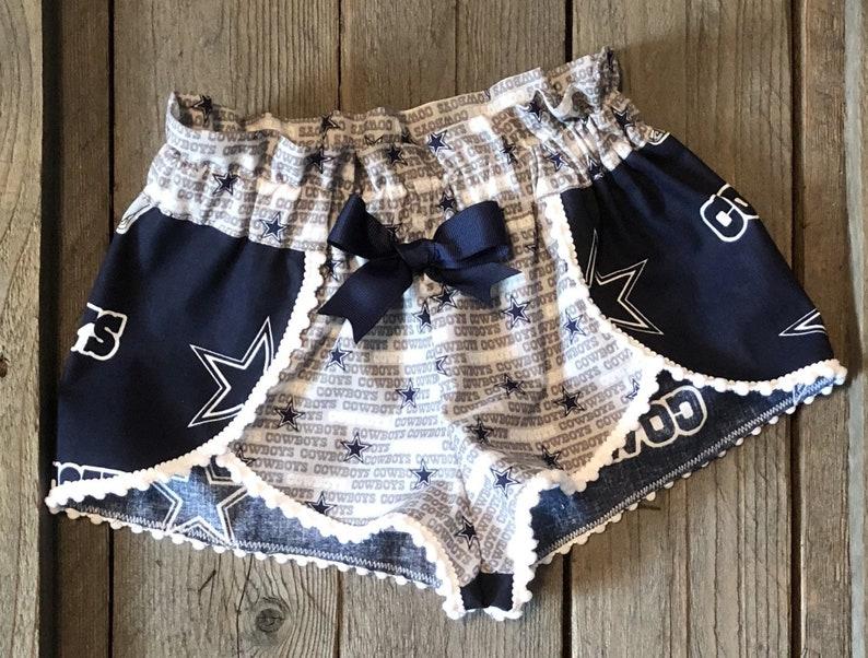 58ca1619 Dallas Cowboys Gray and Blue Two Tone Shorts