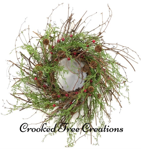 Non Christmas Winter Wreaths.Winter Wreath Holiday Wreath Christmas Wreath Christmas Wreaths Twig Wreath Winter Door Decor Holiday Door Decor Berry Wreath