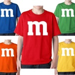 M&M Group M and M Family Halloween Costume Youth Kids Boys Girls Tee T Shirt