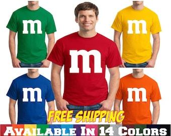 M&M T Shirt M and M T Shirt  Group Family Halloween Costume T Shirt Tee