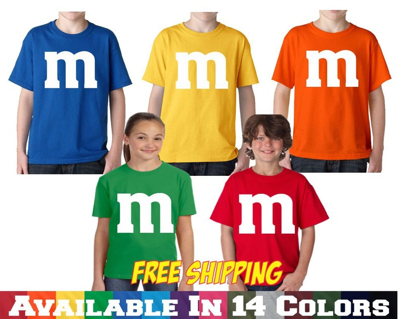 M&M T shirt M and M T Shirt Youth Halloween Costume Youth Kids image 0