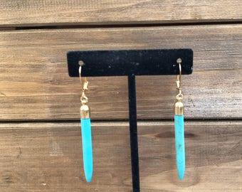 Turquoise Dagger Earrings