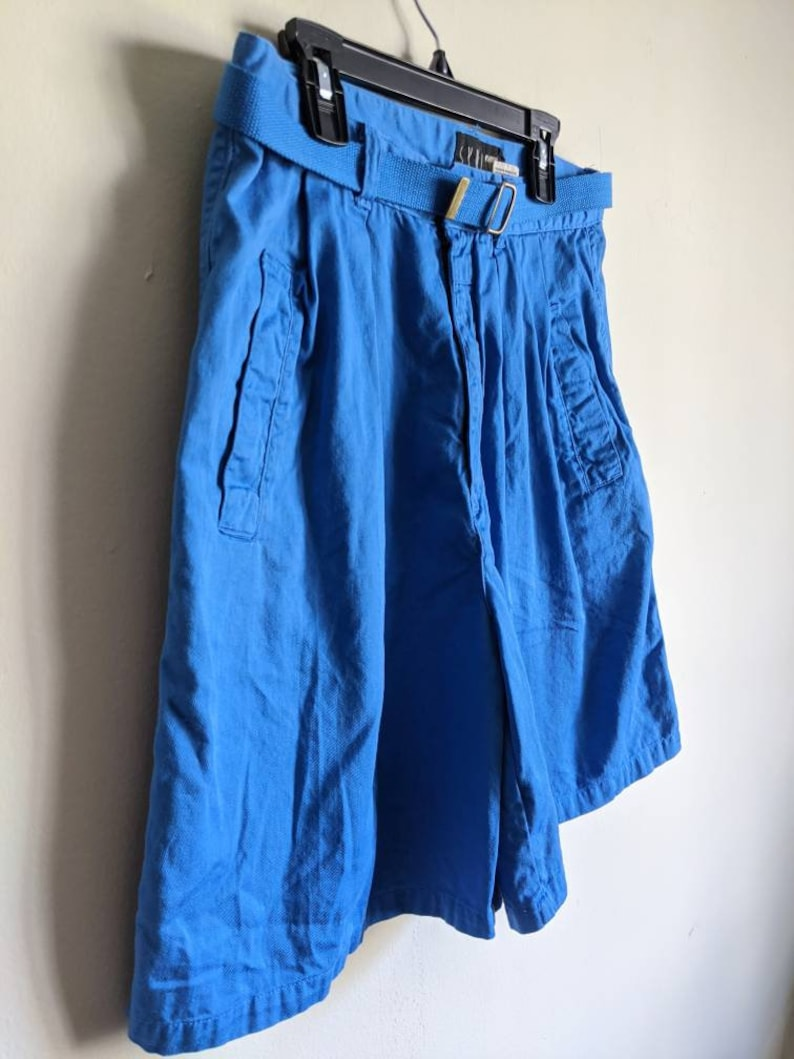 90s Blue High Waisted Shorts by Union Bay
