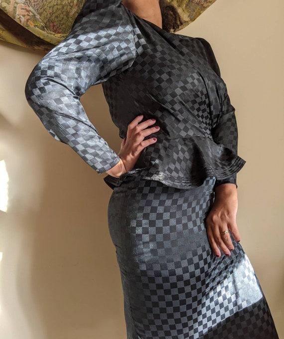 80s Black Dress by Argenti