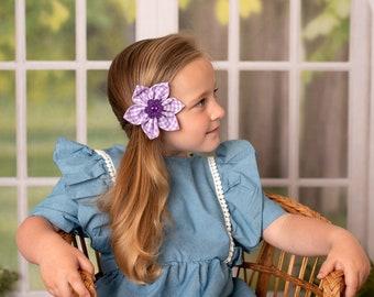 Gingham Hair Clip, Hair Bow, Girls Hair Clip, Hair Clip, Hair Barrette, Hair Accessory