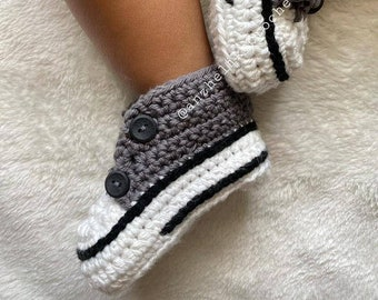 Baby Crochet Sneakers, Crochet Baby Shoes, Baby Shoes, Baby Athletic Shoes, Baby Booties