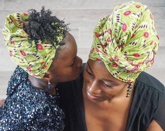Mommy and Me Headwrap, Mothers Day, Head Tie, African Headwrap, Ankara Headwrap, Gele, Foulard, Kitenge Headwrap, Ankara Crown, Head Scarves