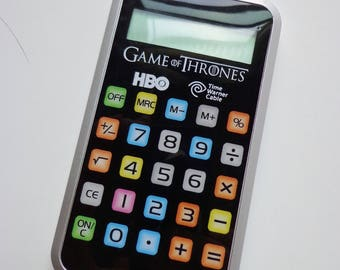 Rare Collectible Plastic Calculator Game of Thrones Logo Souvenir Exclusive HBO TV Show Memorabilia
