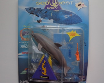 90s Collectible SeaQuest DSV Action Figure Darwin the Dolphin Toy by Playmates New in Package from 1994 TV Show Character Collection