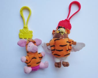 McDonalds Disney Tigger Movie Winnie the Pooh Piglet & Owl Mini Toy Clip Plush Happy Meal Collectible