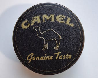 Vintage 1994 Camel Genuine Taste Collectible Tobacco Storage Tin Souvenir Memorabilia Stash Box