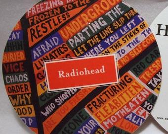 Radiohead Sticker Hail to The Thief Album Art Big Glossy Round Stickers
