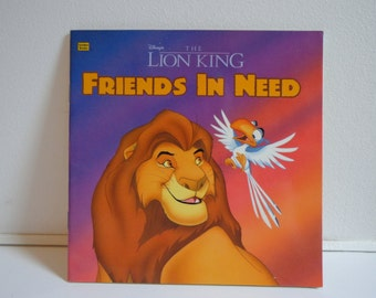 Vintage Disney The Lion King Friends in Need Golden Look Look Book, Illustrated Children's Book from 1994