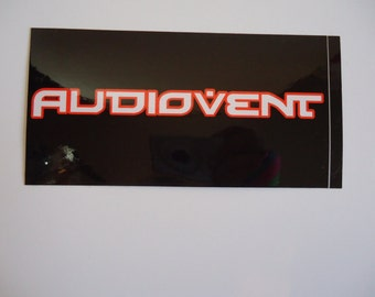 Audiovent  Sticker Red & Black Text Logo Band Art Decal Audio Vent Incubus