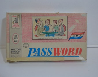 Original Vintage Password Board Game Volume Three by Milton Bradley from 1962
