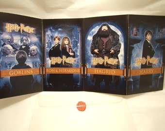 Harry Potter & Sorcerers Stone Wizard Movie 4 Postcard Set in Sealed Envelope, Rare Collectible Ephemera