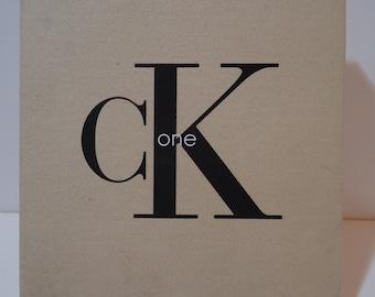 Vintage 90s Calvin Klein Cosmetics Original CK One Perfume Gift Box Fashion Beauty Souvenir Retro Collectible
