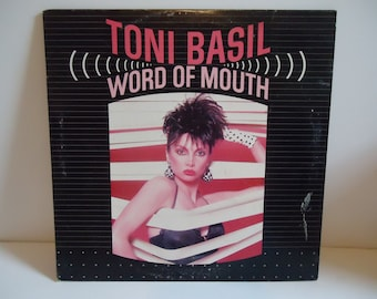 Toni Basil Word Of Mouth Original Vinyl Record LP Album 80s Dance Pop Chrysalis 1982