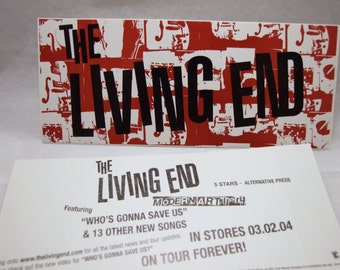 The Living End Sticker Modern Artillery album promo band logo Art Decal