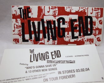 The Living End Sticker Modern Artillery album promo band logo Art Decal
