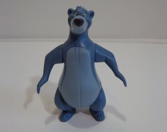 Disney The Jungle Book Mini Vinyl Poseable Baloo Toy Cake Topper Decoration, Collectible 90s Mini Figure