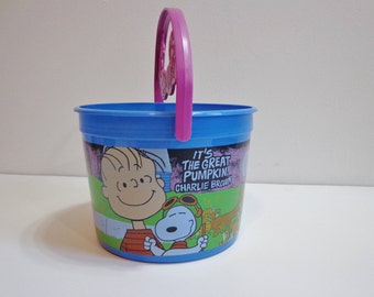 The Great Pumpkin Charlie Brown McDonald's 50th Anniversary Halloween Pail Snoopy & Linus Collectible Happy Meal Cartoon Souvenir Toy