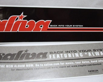 Saliva Sticker Back into your System Long Band Logo Promo Decal