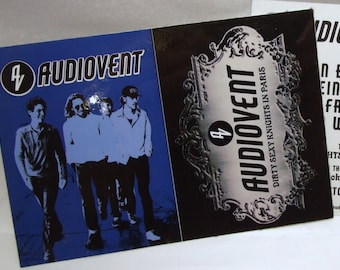 Audiovent Sticker Vent Dirty Sexy Knights Album Art Glossy Promo 2 Sticker Card